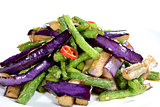 Chinese Food: Fried eggplant slices