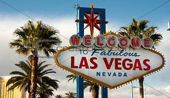 Welcome to Las Vegas Nevada Skyline City Limit Street Sign