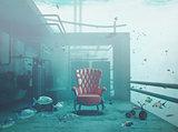 armchair underwater