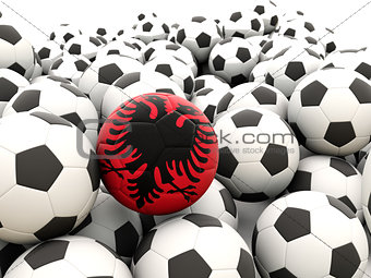 Football with flag of albania