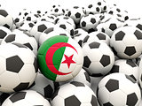 Football with flag of algeria