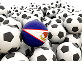 Football with flag of american samoa