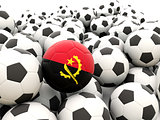 Football with flag of angola