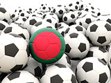 Football with flag of bangladesh