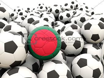 Football with flag of bangladesh