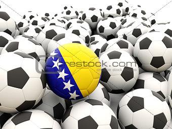 Football with flag of bosnia and herzegovina