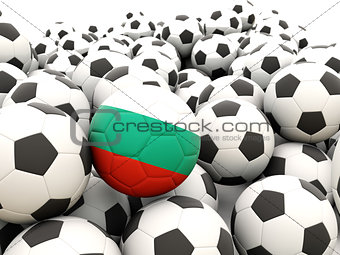 Football with flag of bulgaria