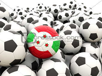 Football with flag of burundi