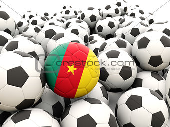 Football with flag of cameroon