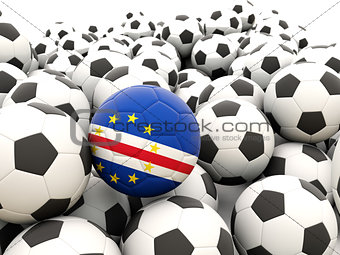 Football with flag of cape verde
