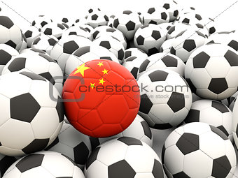 Football with flag of china