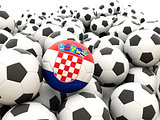 Football with flag of croatia