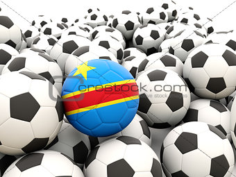 Football with flag of democratic republic of the congo