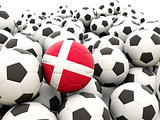 Football with flag of denmark