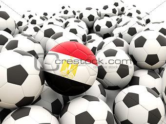 Football with flag of egypt