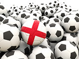 Football with flag of england
