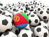 Football with flag of eritrea