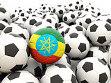 Football with flag of ethiopia