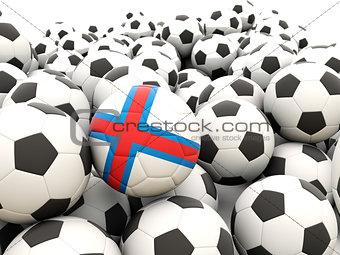 Football with flag of faroe islands
