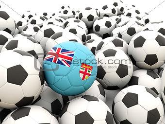 Football with flag of fiji