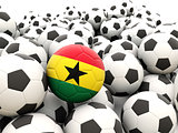 Football with flag of ghana