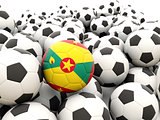 Football with flag of grenada