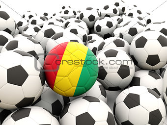 Football with flag of guinea