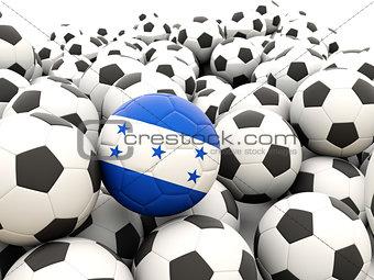 Football with flag of honduras