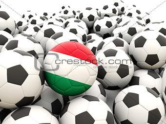 Football with flag of hungary