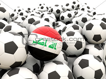 Football with flag of iraq