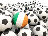 Football with flag of ireland