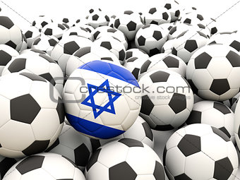 Football with flag of israel