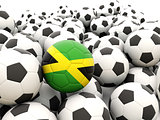 Football with flag of jamaica