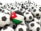 Football with flag of jordan