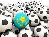 Football with flag of kazakhstan