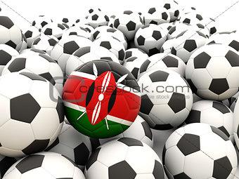 Football with flag of kenya