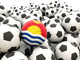 Football with flag of kiribati