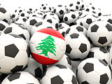 Football with flag of lebanon