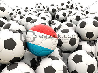 Football with flag of luxembourg