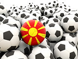 Football with flag of macedonia