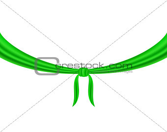 Knot tied in green design