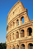 Colosseum - the world famous landmark in Rome Italy