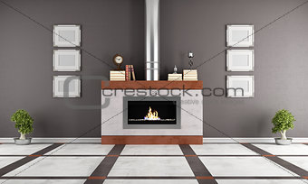 Fireplace in a elegant lounge