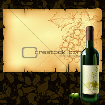 background with wine