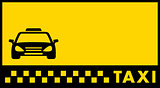 yellow backdrop for taxi visiting card