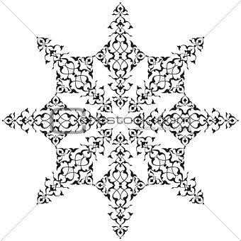 black oriental ottoman design thirty-seven