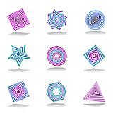 Design elements set. Abstract color icons.