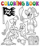 Coloring book pirate thematics 1