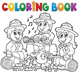 Coloring book scouts theme 1