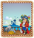 Parchment with pirate ship deck 2